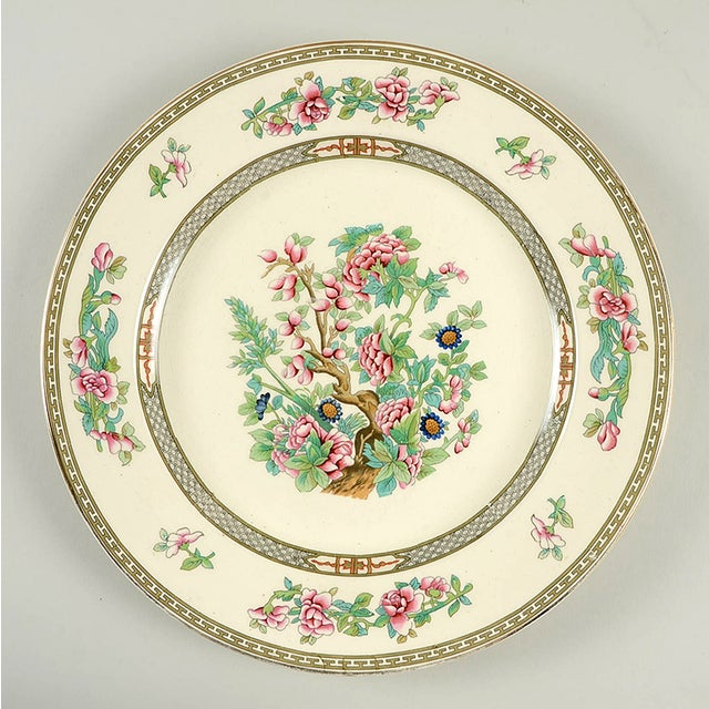 """Crown Ducal Indian Tree 12"""" Round Platter For Sale In Greensboro - Image 6 of 6"""