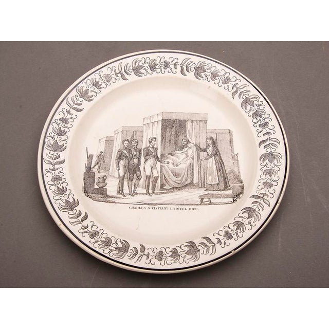 Set Eight Antique French Transferware Plates, c.1860 For Sale - Image 9 of 11