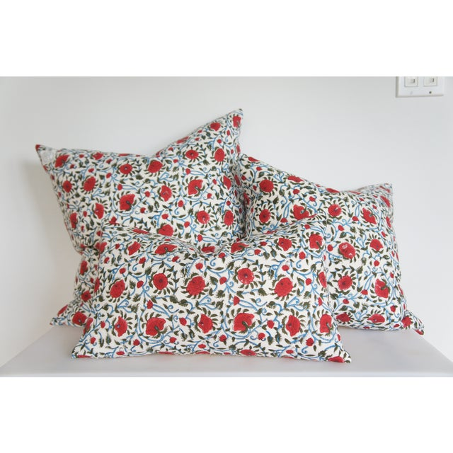 Indian Block Print Euro Pillow - Image 3 of 4