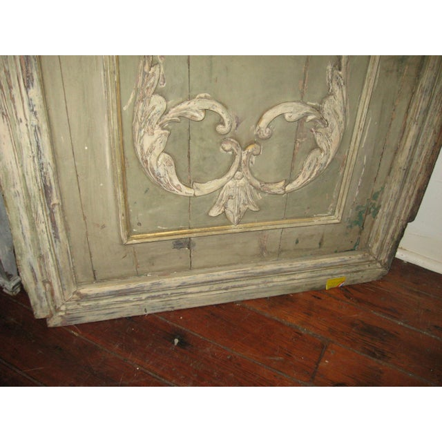 18th Century Louis XVI Painted Panel Door For Sale - Image 9 of 12