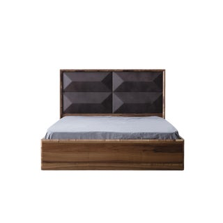 Upholstered Wood King Size Bed