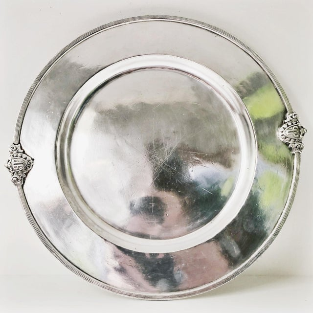 1900 - 1909 Antique Silver Plated Tray From the Savoy Plaza Hotel NYC For Sale - Image 5 of 5