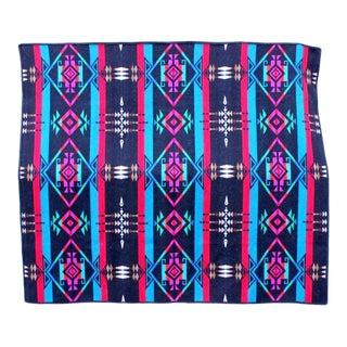 Bright Colored Vintage Pendelton Blanket For Sale
