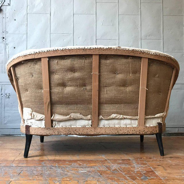 Small French Napoleon III Settee With Tufted Back and Cabriole Legs - Image 6 of 11