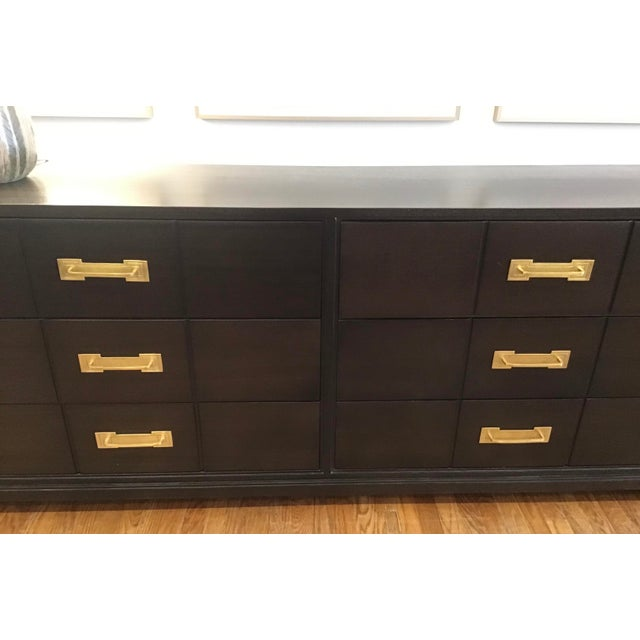 1950s 1950's Mid Century Tommi Parzinger for Charak Ebonized Chest of Drawers For Sale - Image 5 of 13