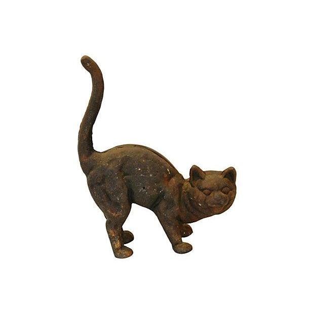 Vintage Cast Iron Cat Doorstop - Image 1 of 7