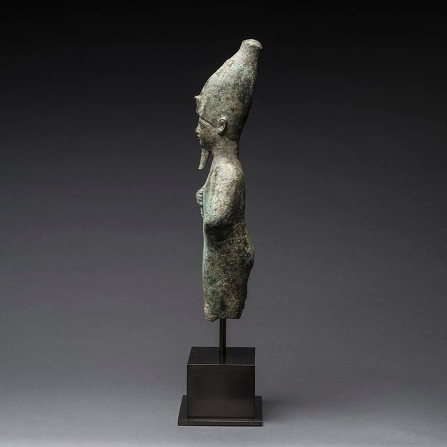 Egyptian Revival Egyptian Bronze Standing Figure of Osiris For Sale - Image 3 of 5