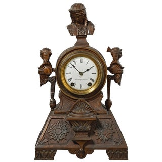 Mid-19th Century Antique Seth Thomas Sons & Co Bronze Mantel Clock For Sale