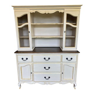 1950s French Provincial China Hutch For Sale