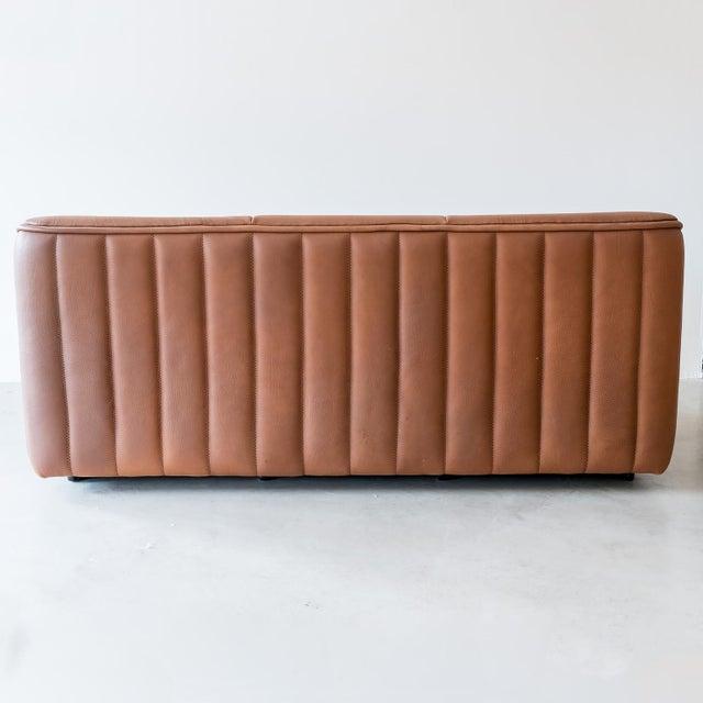 De Sede Original De Sede Model Ds84 Sofa in Cognac Buffalo Leather, 1970s For Sale - Image 4 of 9