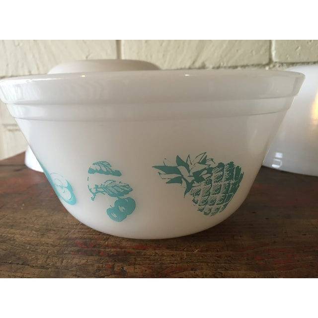 Federal Glass Turquoise & White Bowls - Set of 4 - Image 5 of 11