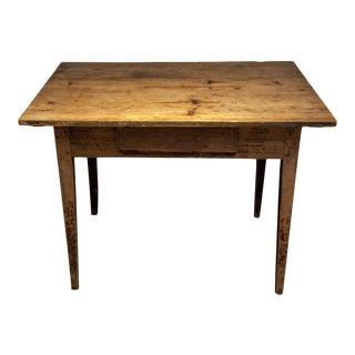 Vintage Danish Distressed Writing Desk For Sale