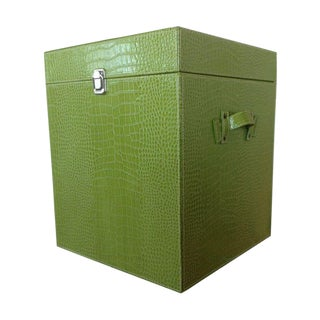 Lime Green Faux Leather Crocodile Trunk For Sale