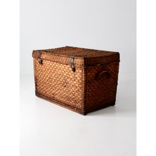 Antique Wicker Trunk Preview