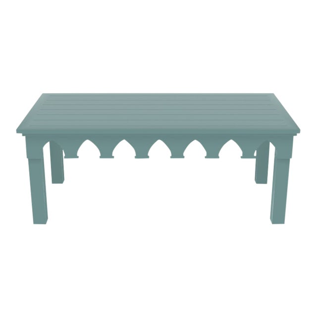 Oomph Ocean Drive Rectangle Outdoor Coffee Table, Green For Sale