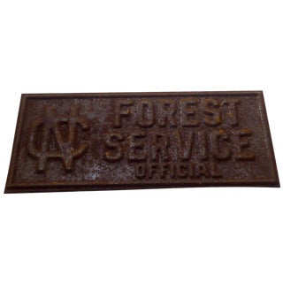 Vintage North Carolina Forest Service Sign For Sale