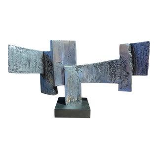 James Myford Brutalist Cast Aluminum Sculpture For Sale