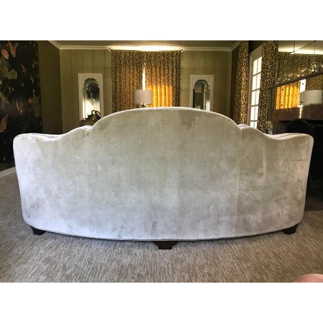 Vintage Dunbar Sofa Model 2173-A Attributied Elsa Schiaparelli Art Deco Curved Sofas - a Pair For Sale - Image 10 of 13