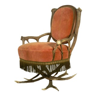 Rustic Antler Easy Chair Austria Ca. 1880 For Sale