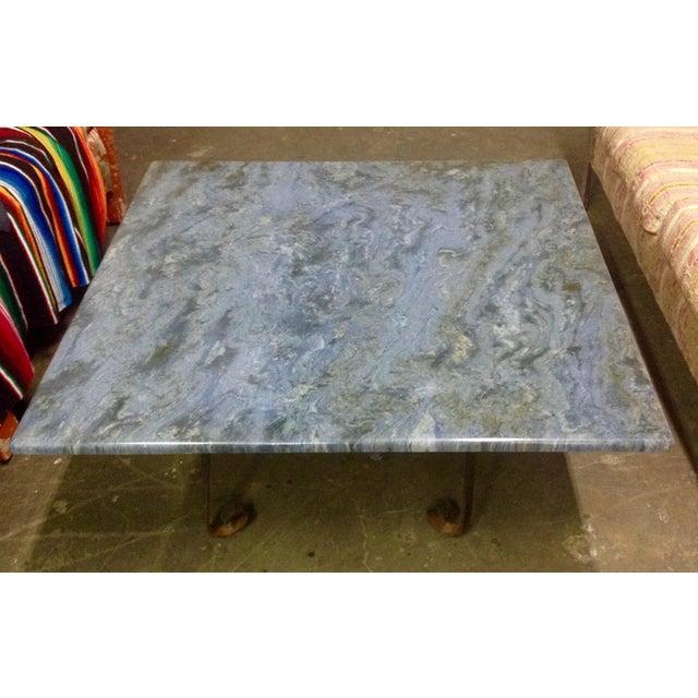 Modern Blue Brazilian Quartzite Coffee Table For Sale - Image 3 of 6