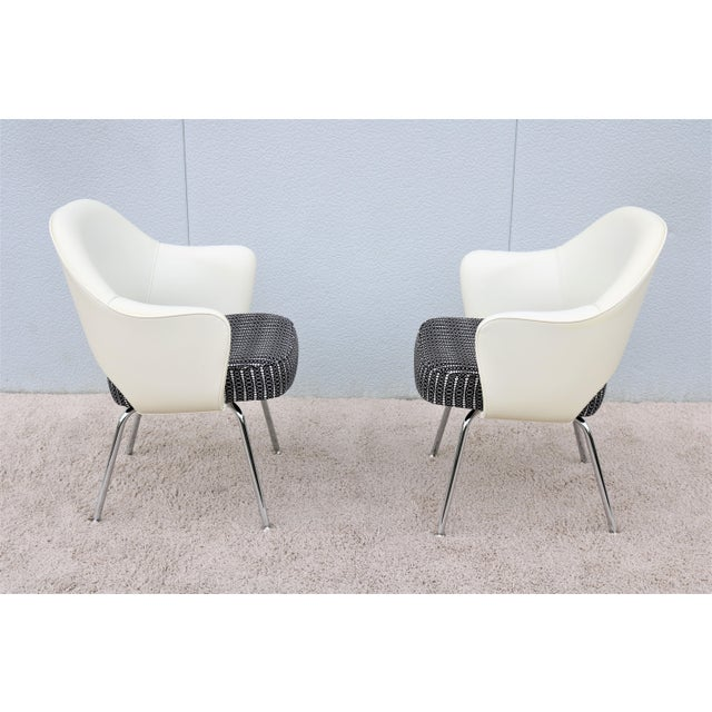 Metal Mid-Century Modern Eero Saarinen for Knoll White Executive Arm Chairs - a Pair For Sale - Image 7 of 13