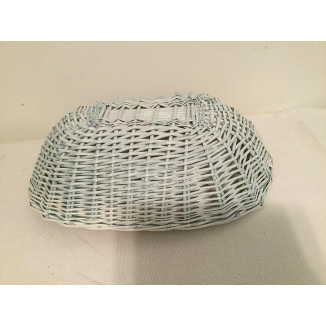 2000 - 2009 White Wicker Basket For Sale - Image 5 of 8