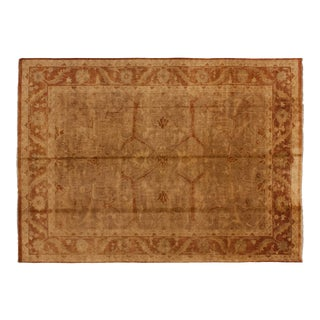"New Gold Wash Indian Oushak Design Carpet - 10' X 13'8"" For Sale"