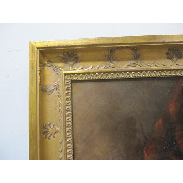 Red Late 19th Century Antique Henriette Ronner Style Signed Kitten Oil Painting For Sale - Image 8 of 11