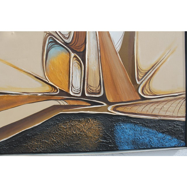 Vintage Abstract Composition by Christie For Sale - Image 9 of 11