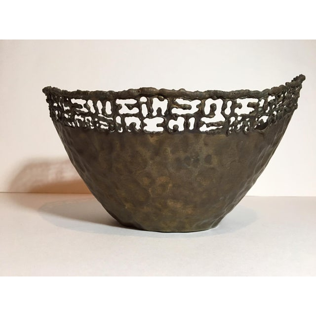 Circa 1950 Marcello Fantoni Italian Brutalist Style Copper Bowl For Sale In Nashville - Image 6 of 11