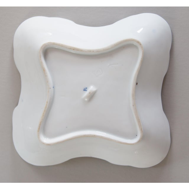 Early 20th Century Blue Onion Square Porcelain Dish For Sale - Image 5 of 6