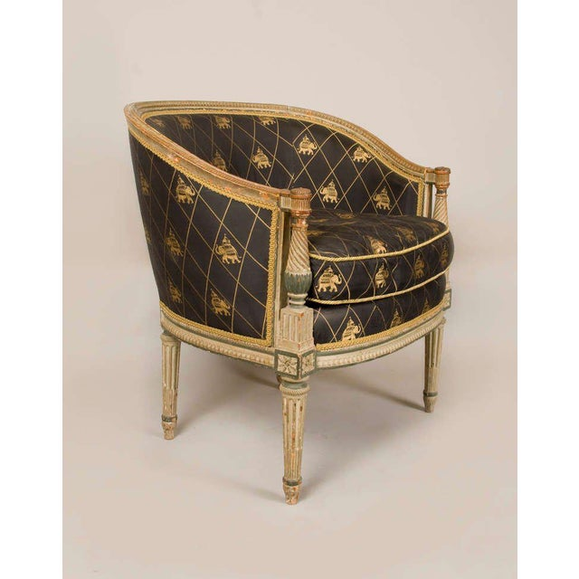 1900 - 1909 Late 18th-Early 19th Century Directoire Bergere Chair For Sale - Image 5 of 5
