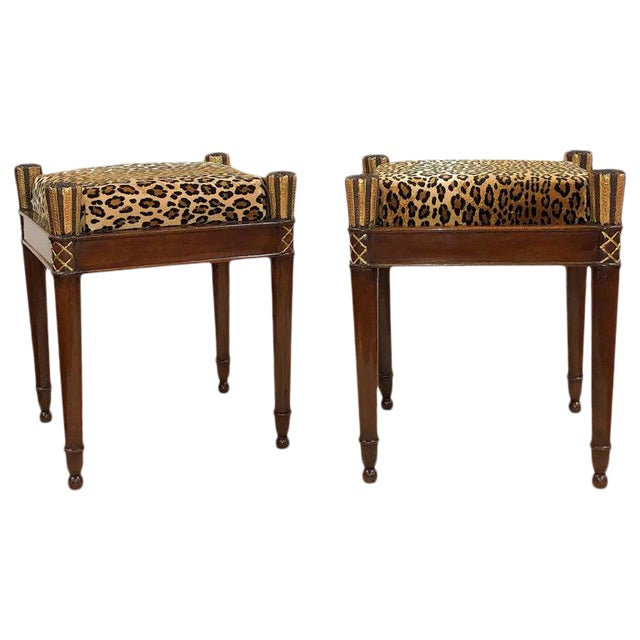 Vintage French Directoire Stools- A Pair For Sale