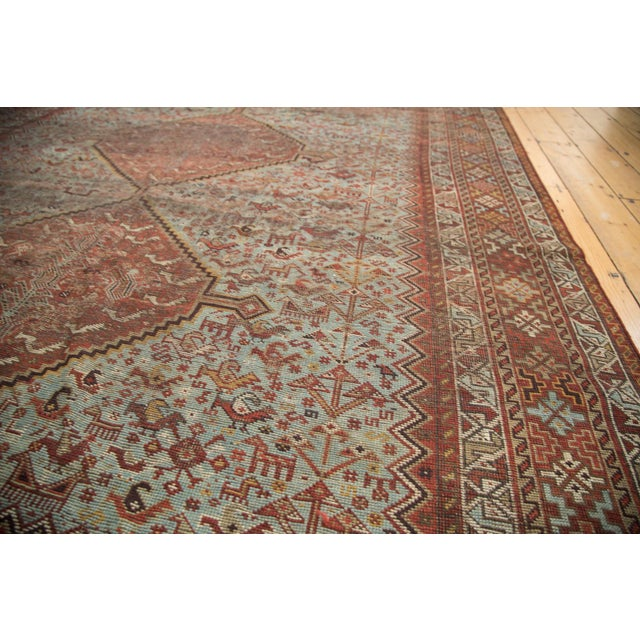 "Vintage Shiraz Carpet - 6'10"" X 9'9"" For Sale - Image 9 of 10"