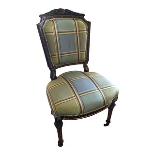 Late 20th Century Antique Empire Style Accent Desk Chair For Sale