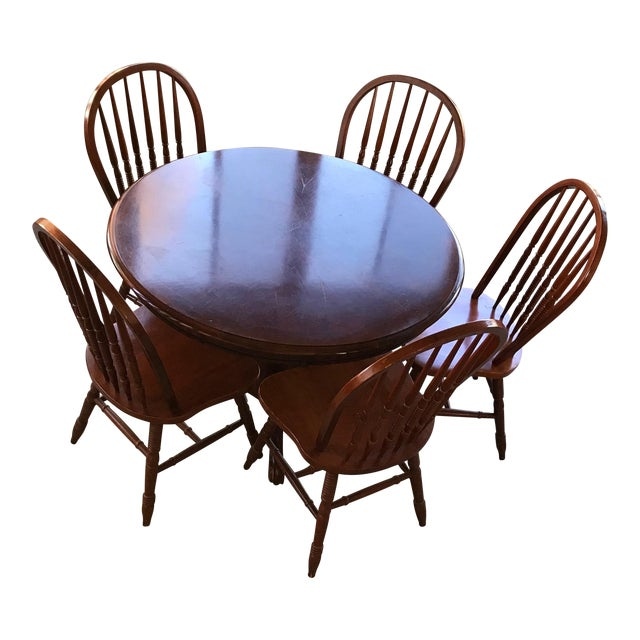 Round Table & Chair Set - Image 1 of 5