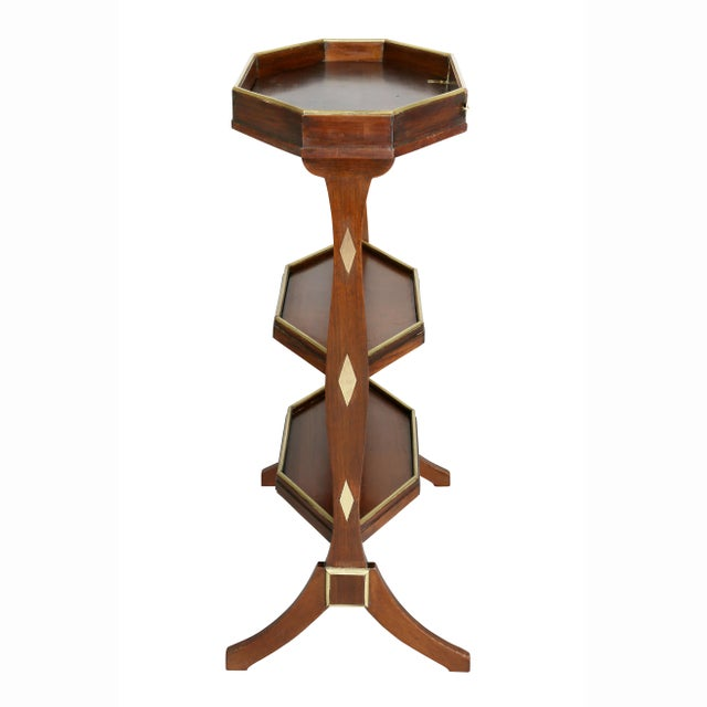 Directoire Mahogany and Brass Mounted Table For Sale - Image 9 of 13