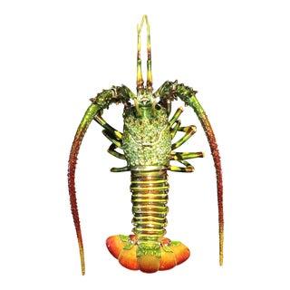 Jeweled Articulating Large Shrimp Trinket Box For Sale