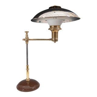 Scandinavian Modern Table Lamp in Chrome-Plated Brass For Sale