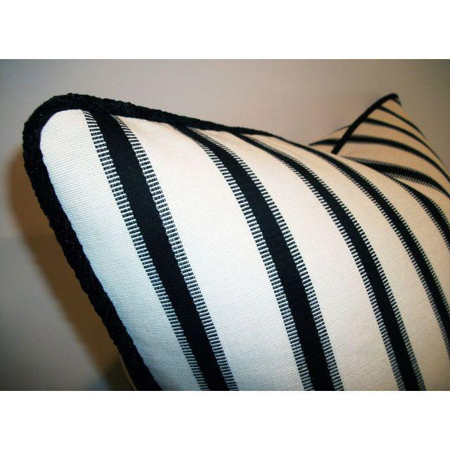 Hamptons Stripe Accent Pillows - A Pair - Image 2 of 4