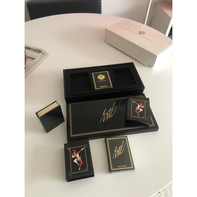 1980s Vintage Double Deck Art of Erte Playing Cards, Sobranie of London, 1980's For Sale - Image 5 of 6