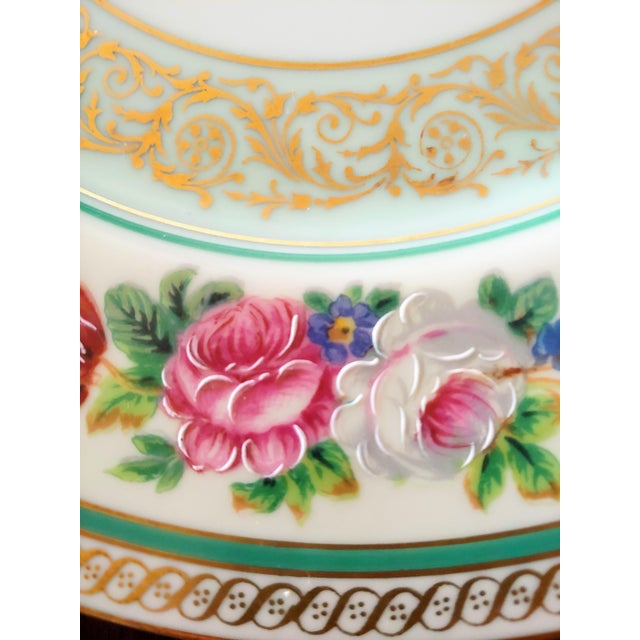 1940s Vintage Early 19th Century Charles Ahrenfeldt Limoges Service Plates - 12 Pieces For Sale - Image 5 of 6