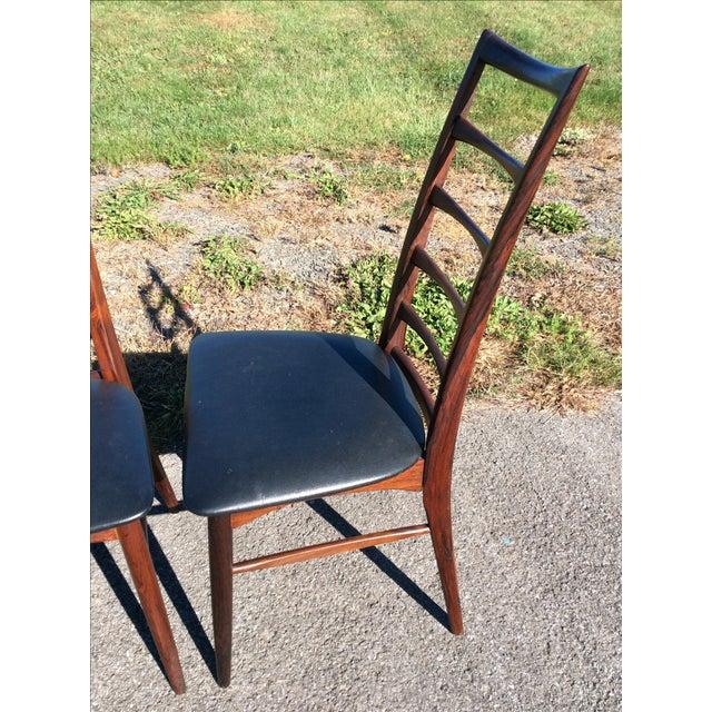 Niels Koefoed Rosewood & Teak Chairs - Set of 6 - Image 7 of 10