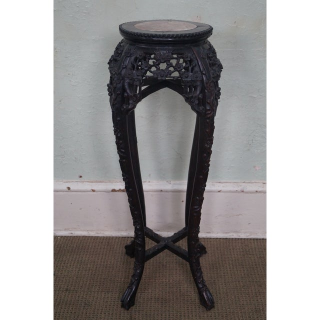 Vintage Chinese Carved Plant Stand - Image 2 of 10