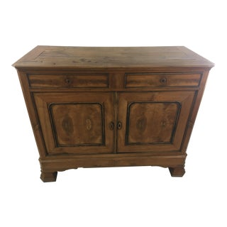 Antique Brown French Buffet For Sale