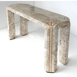 Maitland-Smith Style Tessellated Stone & Marble Console Table Preview