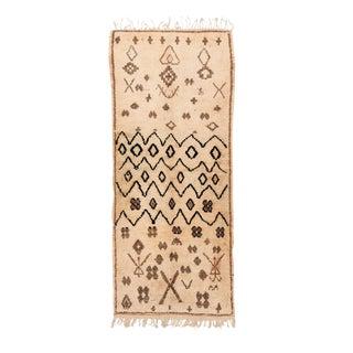 Vintage Azilal Handwoven Rug - 3′5″ × 8′7″ For Sale