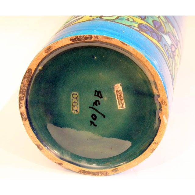 1960s Huge Bitossi Pottery Londi Vase Italian Rn Label Raymor Ceramic Umbrella Stand For Sale - Image 5 of 9