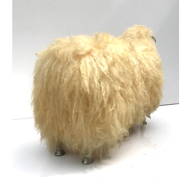 Claude Lalanne 1970's Lalanne Style Sheep Ottoman Stool For Sale - Image 4 of 11