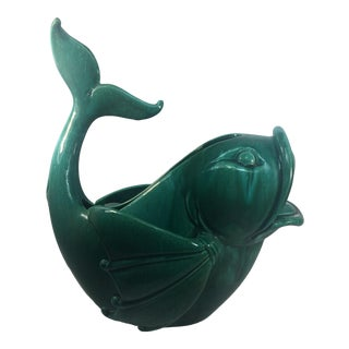 Royal Haeger Pottery Decorative Fish Vase For Sale